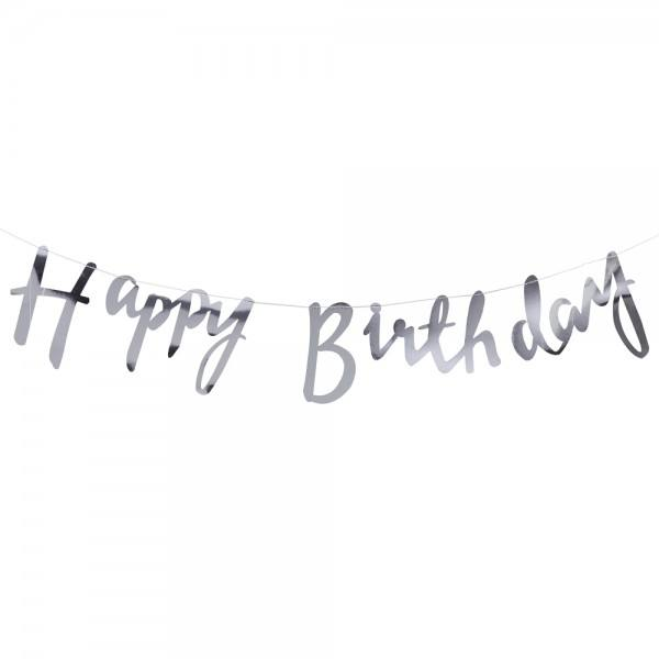 Pick & Mix Girlande Birthday silber