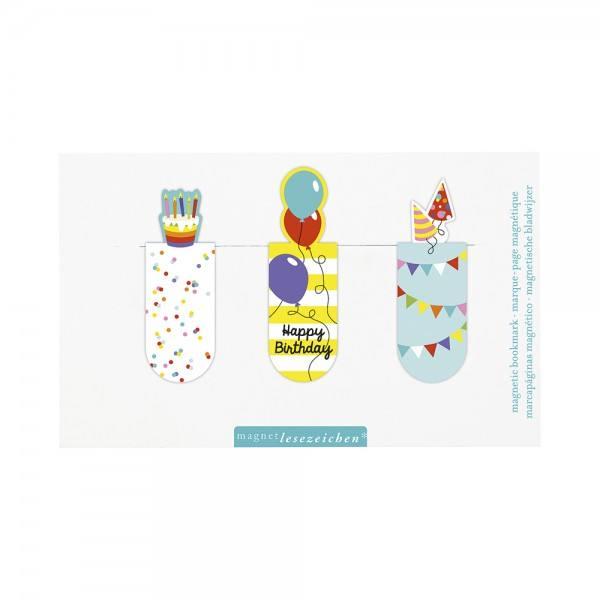 Magnet Lesezeichen Happy Birthday