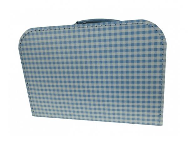 Koffer 30 cm Vichy Karo hellblau