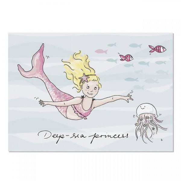 Krima & Isa - Postkarte Meerjungfrau