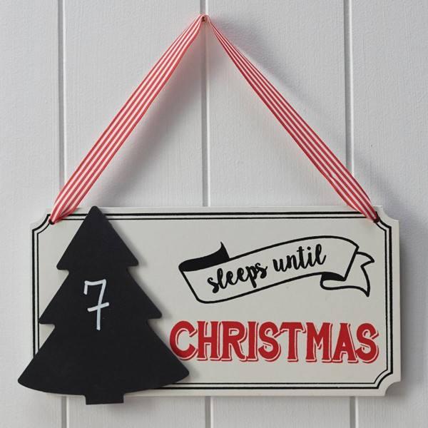 Vintage Noel - Schild ... Schlafen bis Weihnachten