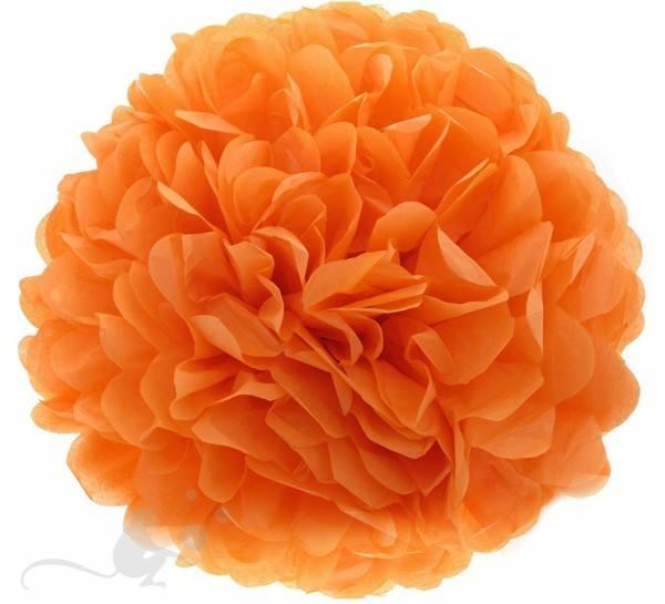 Pom Pom 50 cm rund orange