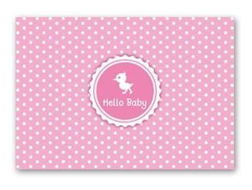 Postkarte Hello Baby Girl