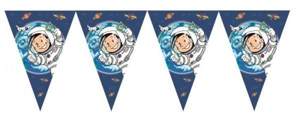 Wimpelgirlande Astronaut