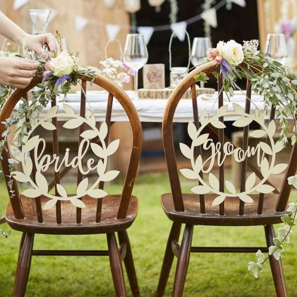 Rustic Country Schild Bride & Groom