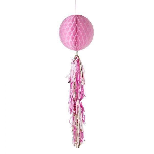 Wabenball Tassel rosa