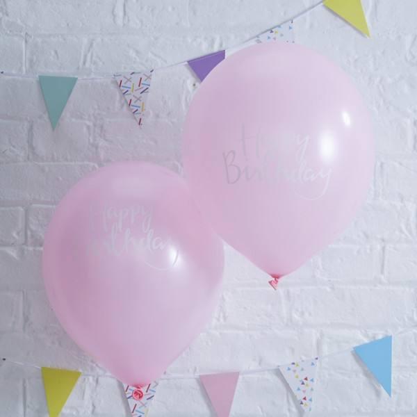 Pick & Mix Ballon Birthday rosa