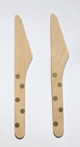 Holzmesser gold Punkte