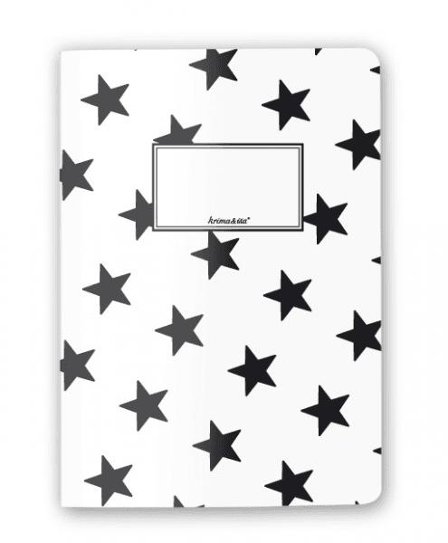 Krima & Isa - Notizheft Sterne schwarz