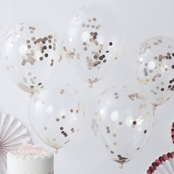 Pick & Mix - Ballons Konfetti rosegold