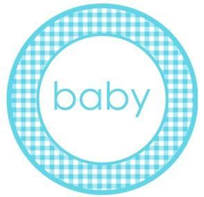 Aufkleber Baby hellblau