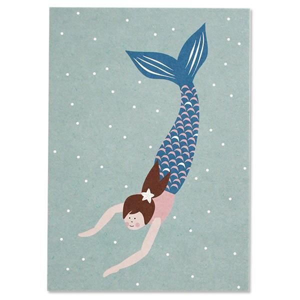 Ava & Yves Postkarte Meerjungfrau