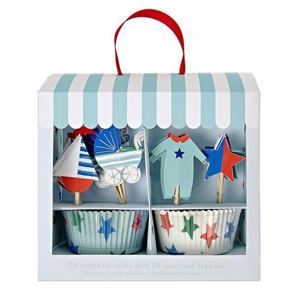 Meri Meri - Cupcake Set Baby hellblau