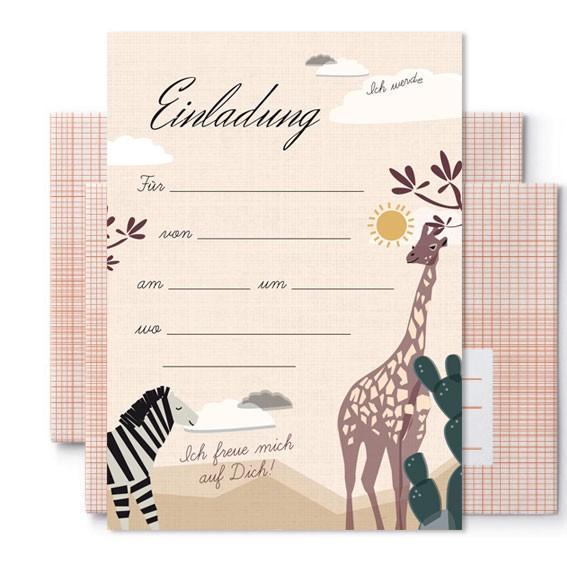 Geburtstagseinladungen Safari