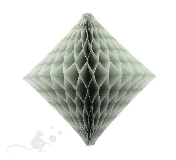 Wabenball Diamant 46 cm grau