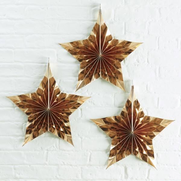 Metallic Star - Rosetten Sterne
