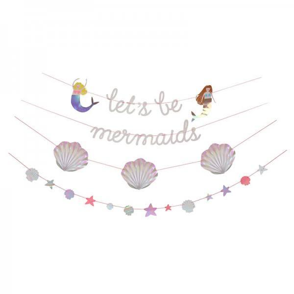 Meri Meri - Girlande Meerjungfrau