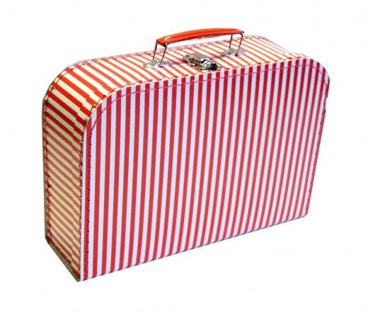 Koffer 30 cm Streifen rot