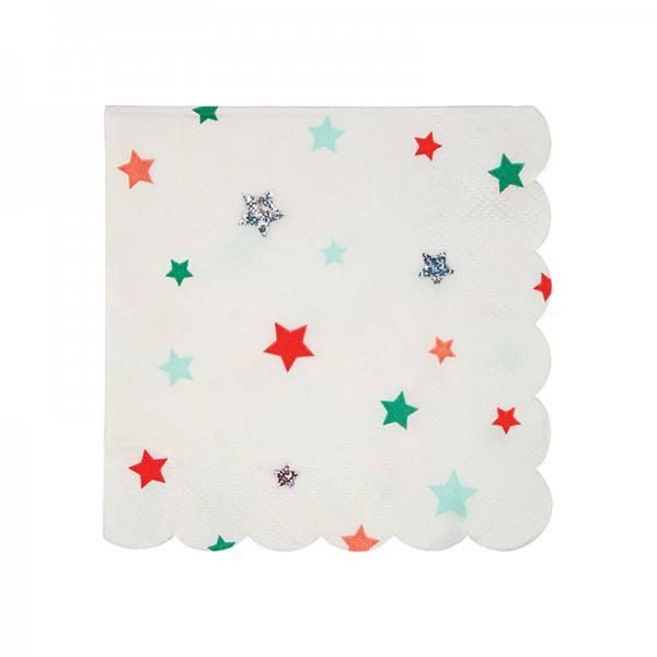 Meri Meri - Servietten Weihnachten Stars