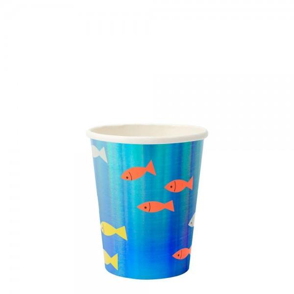 Meri Meri - Pappbecher Unterwasserwelt