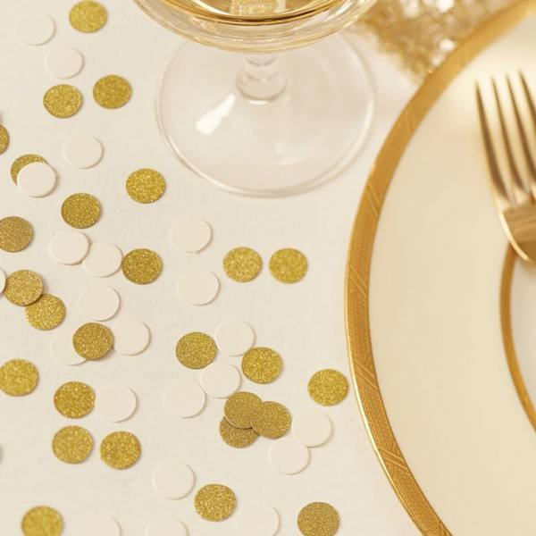 Metallic Perfection - Confetti gold - creme