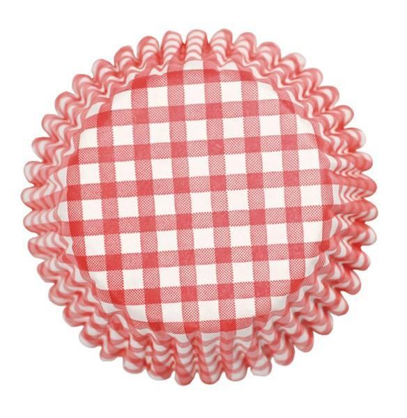 Muffinförmchen pink Karo