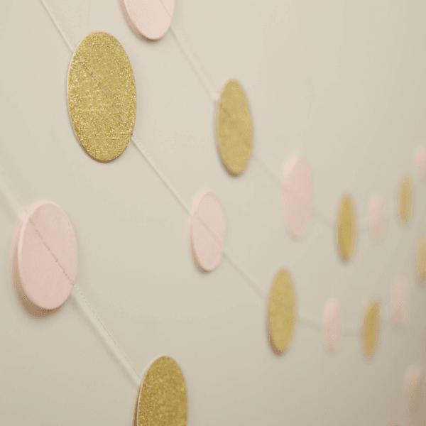 Pastel Perfection Girlande Kreise rosa-gold