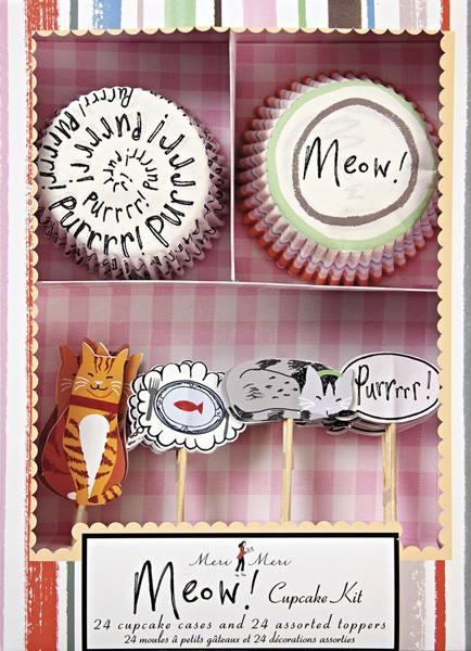 Meri Meri - Cupcake Set Katze Meow