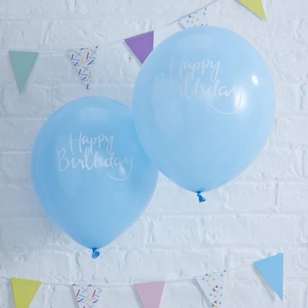 Pick & Mix Ballon Birthday hellblau