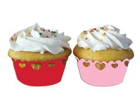 Cupcake Wrapper Herzen