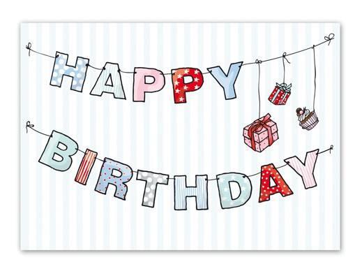 Krima & Isa Postkarte Girlande Birthday