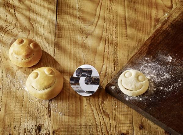Brötchen Stempel Smile