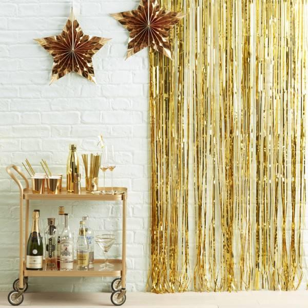Metallic Star - Partyvorhang gold