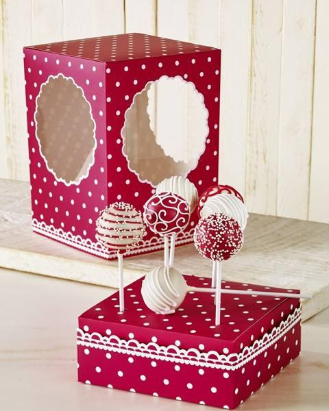 Cake Pops Box Punkte rot