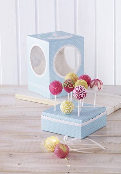 Cake Pops Box Vintage Memories