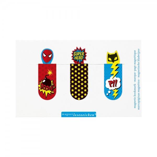 Magnet Lesezeichen Super Hero