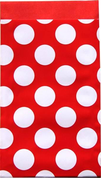 Papier Tüten Punkte rot