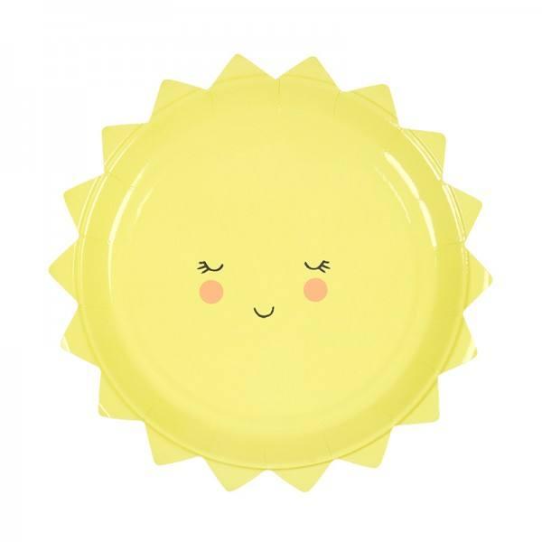 Meri Meri - Pappteller Sonne