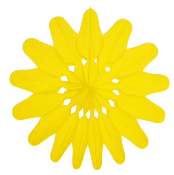 Stab Rosette gelb