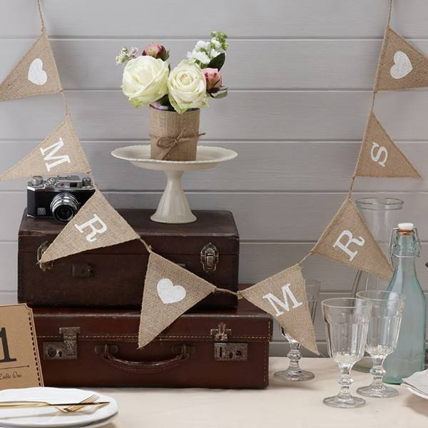 Girlande Vintage Affair Mr & Mrs