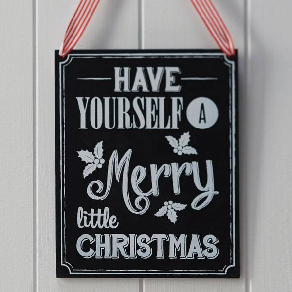 Vintage Noel - Schild Merry Christmas