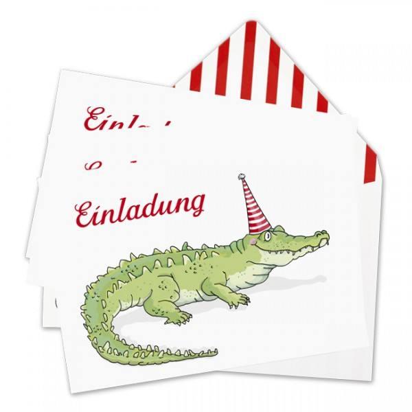 Krima & Isa - Einladungsset Krokodil