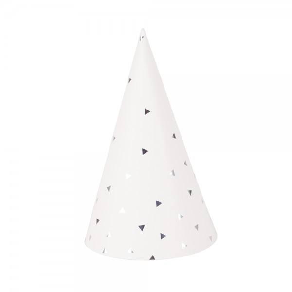 Partyhüte Set silber Dreieck