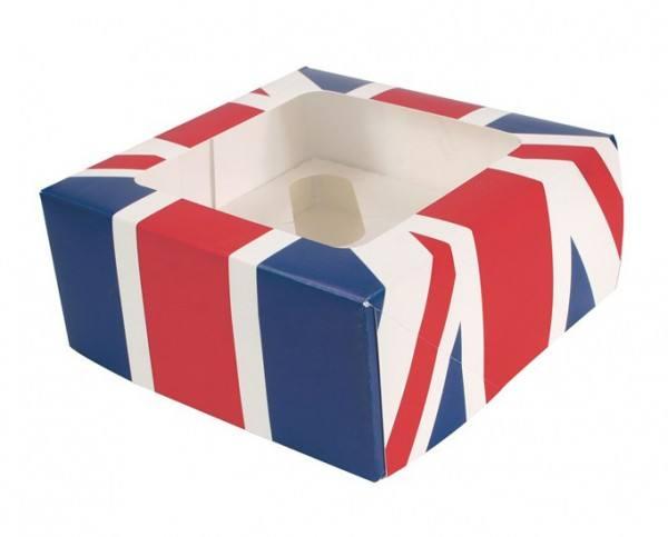 4er Cupcake Box Union Jack