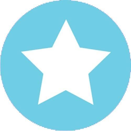 Aufkleber klein Stern hellblau