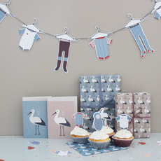 Babyparty Storch