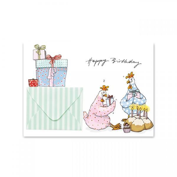 Krima & Isa - Briefchenkarte Geschenkhuhn