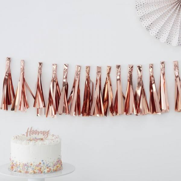Pick & Mix - Tassel Girlande rosegold