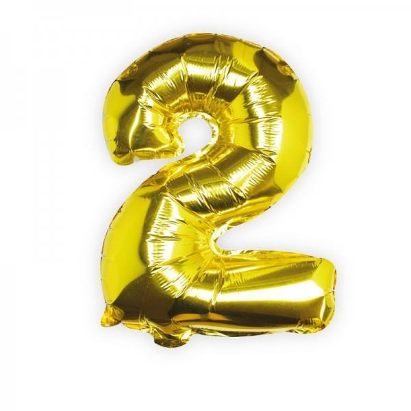 Ballon gold Zahl 2