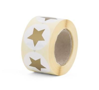 Aufkleber groß Stern gold
